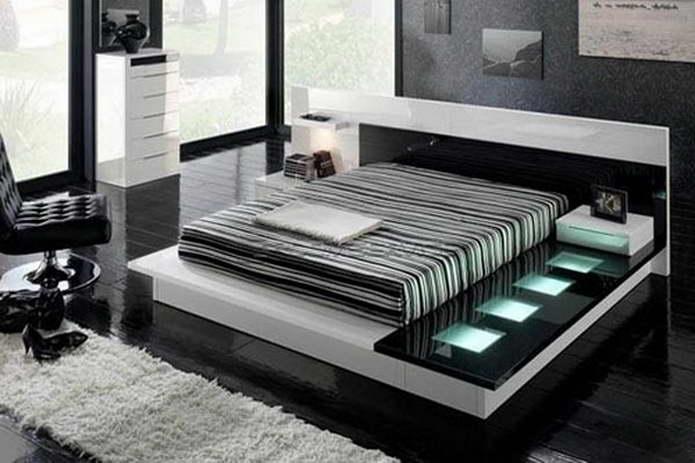 Спальня в стиле высоких технологий