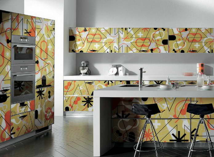 Авторская кухня в стиле поп арт