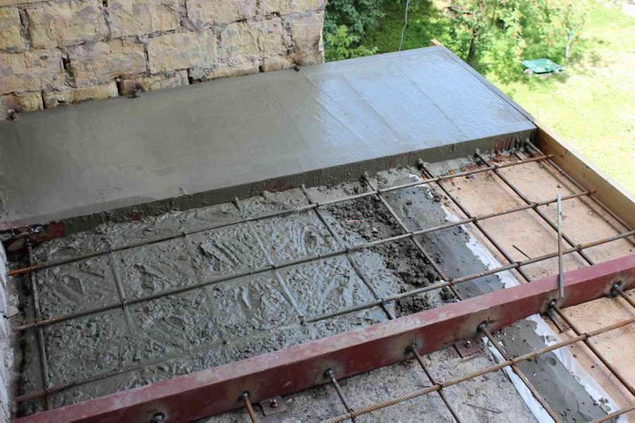 Как залить бетонную плиту.